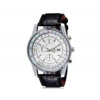 VaLia 8208 Мужские Аналоговые часы с календарем (белый)