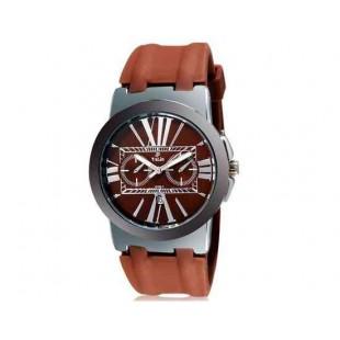 Валя 8195 Мужские Аналоговые часы с календарем (коричневый) М.