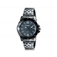 Kingsky 8811 людей стильные круглые аналоговые кварцевые часы (черный) М.
