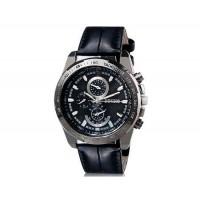 DINIHO 8014 Мужские Круглые аналоговые часы с искусственной кожи ремешок (черный) М.