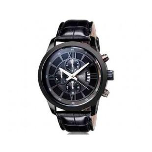CURREN 8137 мужские кварцевые часы с календарем (черный) М.