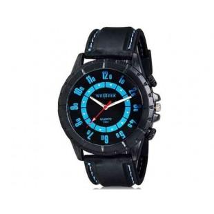 WeiJieer 5042 Мужчины Круглого аналоговые часы с силиконовым ремешком (синий) М.