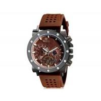 VALIA  8235  Аналоговые часы с силиконовым ремешком (коричневый) М.