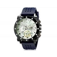VALIA  8235 Человек Круглый Аналоговые часы с силиконовым ремешком (белый и синий) М.