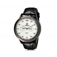 VALIA  8237 человек Круглый Аналоговые часы с искусственного кожаный ремешок (белый) М.