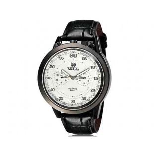 Валя 8237 человек Круглый Аналоговые часы с искусственного кожаный ремешок (белый) М.