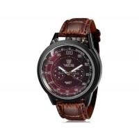VALIA 8237 человек Круглый Аналоговые часы с искусственного кожаный ремешок (коричневый) М.
