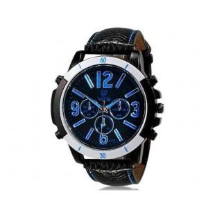 Валя 9122 Модные мужские Аналоговые часы с Faux кожаный ремешок (синий) М.