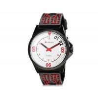 CURREN 8153 мужские модные Аналоговые часы с искусственного кожаный ремешок (белый) М.