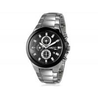 Kingsky 8838 мужские кварцевые аналоговые часы с датой Дисплей & нержавеющей стали ремешок (черный) М.