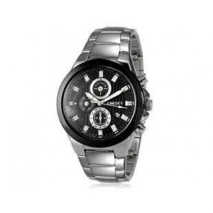 Kingsky 8838 Мужская кварцевые аналоговые часы с датой Дисплей & нержавеющей стали ремешок (черный) М.