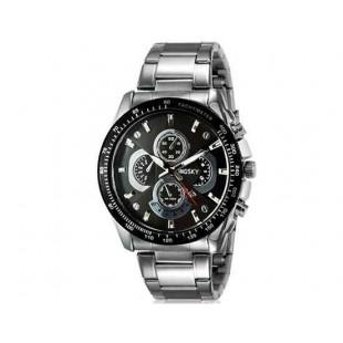 Kingsky 8840 Мужская Круглый аналоговый Кварцевые часы с календарем и нержавеющая сталь Ремешок (бежевый) М.