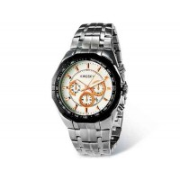 Kingsky 8841 мужские кварцевые аналоговые часы с датой Дисплей & нержавеющая сталь Ремешок (белый) М.