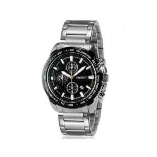 Kingsky 8842 Мужская кварцевые аналоговые часы с датой Дисплей & нержавеющая сталь Ремешок (черный) М.
