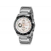 Kingsky 8842 мужские кварцевые аналоговые часы с датой Дисплей & нержавеющая сталь Ремешок (белый) М.
