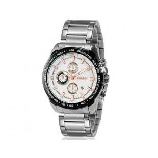 Kingsky 8842 Мужская кварцевые аналоговые часы с датой Дисплей & нержавеющая сталь Ремешок (белый) М.