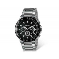 Kingsky 8839 мужские кварцевые аналоговые часы с датой Дисплей & нержавеющая сталь Ремешок (черный) М.
