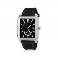 CURREN 8144 мужские кварцевые аналоговые часы с датой Дисплей & каучуковый ремешок (черный) М.