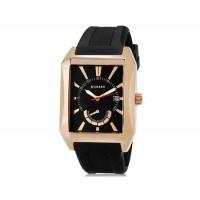 Curren 8144 Мужские кварцевые аналоговые часы с даты Дисплей & каучуковый ремешок (золото) М.