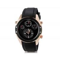 Curren 8141 мужские Круглый Аналоговые часы с каучуковый ремешок (черный и золото) М.