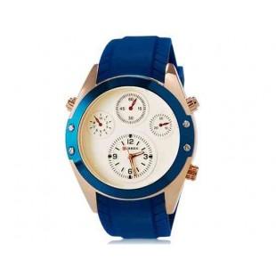 Curren 8141 Мужские Круглый Аналоговые часы с каучуковый ремешок (белый и синий) М.