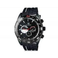 OUYAWEI 1212 мужские кварцевые аналоговые часы с каучуковый ремешок (черный) М.