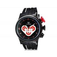 OUYAWEI 1210 мужские Сердце Pattern Кварцевые аналоговые часы с каучуковый ремешок (черный) М.