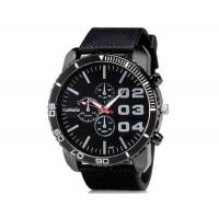 WoMaGe 1091 мужчины ` s аналоговые часы с м. силиконовый ремешок (черный)