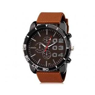 WoMaGe 1091 мужчины ` s аналоговые часы с силиконовый ремешок (коричневый) м.