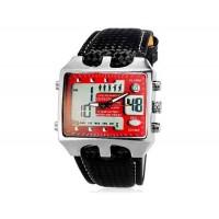 OHSEN AD0930 30M Водонепроницаемые наручные спортивные часы с подсветкой (красные)
