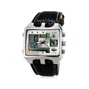 OHSEN AD0930 30M Водонепроницаемые наручные спортивные часы с подсветкой (серебро)