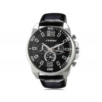 Sinobi S9478G Аналоговые кварцевые наручные часы (черный)