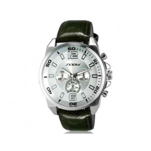 Sinobi S9478G Аналоговые кварцевые наручные часы (Army Green)