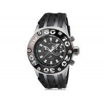 V6 Super Speed V0203 Кварцевые наручные часы с функцией календаря (черный)
