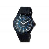 V6 Super Speed мужские Аналоговый кварцевые наручные часы с большой циферблат Body & силиконовый ремешок (синий) М.