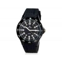 V6 Super Speed мужские Аналоговый кварцевые наручные часы с большой циферблат Body & силиконовый ремешок (белый) М.