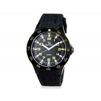 V6 Super Speed мужские Аналоговый кварцевые наручные часы с большой циферблат Body & силиконовый ремешок (желтый) М.