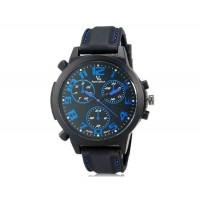 V6 Super Speed V0190 Кварцевые наручные часы с функцией календаря (синий)