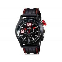 V6 Super Speed Кварцевые наручные часы с функцией календаря (красный)
