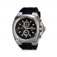 V6 Super Speed V0048 мужские Модные наручные часы с функцией календаря и ТПУ резинкой (черный)