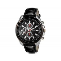 DINIHO 5002G мужские модные Аналоговый кварцевый Большой набор водостойкой наручные часы с искусственной кожи оркестра (черный)