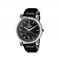 VALIA  8602-1 мужские модные Аналоговый водостойкой наручные часы с Faux кожаный Band (черный)