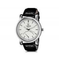 VALIA  8602-1 мужские модные Аналоговый водостойкой наручные часы с Faux кожаный оркестра (белый)