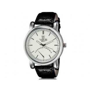Валя 8602-1 Мужская модная Аналоговый водостойкой наручные часы с Faux кожаный оркестра (белый)