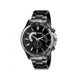 DINIHO 8011G Мужская модная Аналоговый нержавеющей стали наручные часы с Weekly Показать & Стальной браслет (черный)