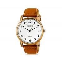 DINIHO 5024G мужские модные Аналоговый кварцевый водостойкой наручные часы с искусственной кожаный ремешок (белый)