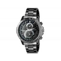 DINIHO 8012G мужские аналоговые наручные часы с нержавеющей стальной лентой (черный)