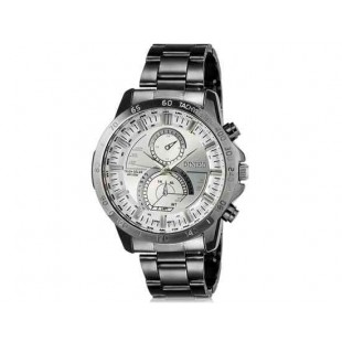 DINIHO 8012G Мужская аналоговые наручные часы с нержавеющей стальной лентой (белый)