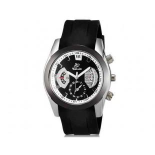 Валя 8136 Мужская модная Аналоговый кварцевый водостойкой наручные часы с функцией календаря и ТПУ резинкой (черный)