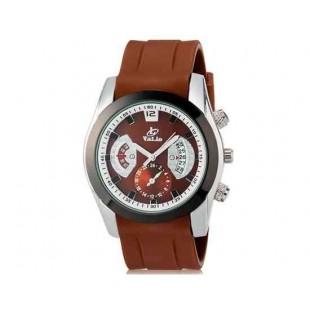 Валя 8136 Мужская модная Аналоговый кварцевый водостойкой наручные часы с функцией календаря и ТПУ резинкой (Brown)